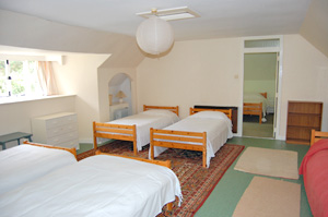 The annex dormitory leads to the double bedroom