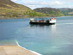 The ferry and the Kylerhea narrows